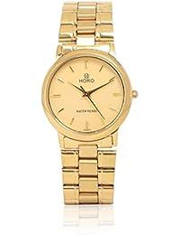 Horo Chain Gold Plated Steel Round Wrist Watch (38X32mm)