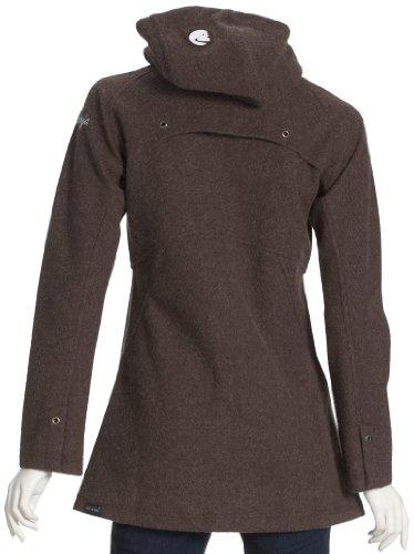 Maloja manteau bullock zippé en laine pour femme Marron - Marron