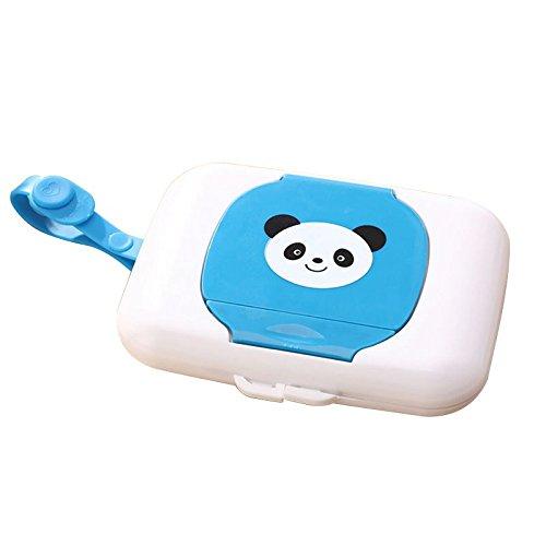 SODIAL Soporte de almacenamiento Caja de toallitas humedas para ninos Estuche de limpieza de viaje Dispensador de cambio bebe