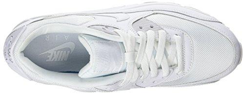 Nike Air Max 90 Essential, Herren Sneakers, Weiß (White/white-white-white), 43 EU (8.5 Herren UK) - 8
