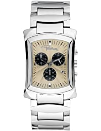 Roberto Cavalli Men's Tomahawk Chronograph Watch R7253900045 with Quartz Movement, Stainless Steel Bracelet and Beige Dial