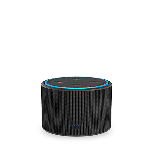 DOX Portable Battery Base for Amazon Echo Dot (Black)