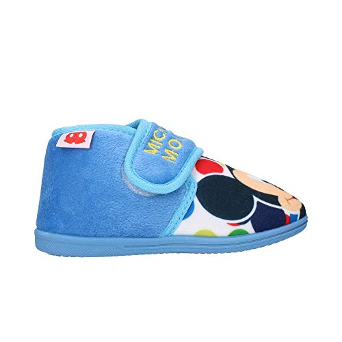 Cerdá zapatillas de casa media bota mickey, pantofole bambino, blu (azul c37), 21 eu