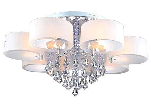 Natsen® Kristall Deckenleuchte 7-flammig E27 Ø90cm Designer Wohnzimmer Lampe