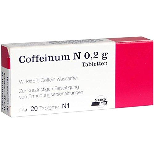 Coffeinum N 0,2g Tabletten Spar-Set 2x20Tabletten. Sinnvoller Kombinationspartner für analgetische (schmerzlindernde) Wirkstoffe.