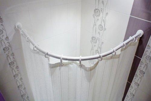 duschvorhangstange oval ALU BOGENSTANGE 120x120 cm DUSCHVORHANGSTANGE OVAL WEISS OVALSTANGE FÜR DUSCHVORHANG! ARCHED ROD WHITE!