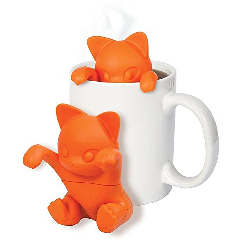 Verlike fashion kitchen cute cat silicone tea infusert loose leaf strainer herbal filtro