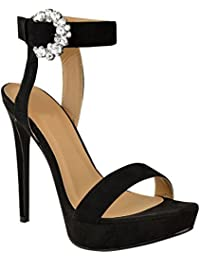 Calzature & Accessori neri con punta aperta per donna Fashion thirsty