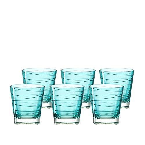 Preisvergleich Produktbild Leonardo 018231 Vario Set 6 Becher klein Struttura laguna,  Glas,  türkis,  8.30 x 8.30 x 9.00 cm,  6 Einheiten