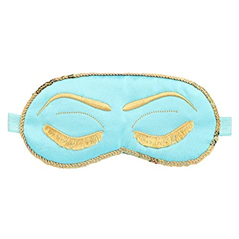 BABEYOND Masque de Sommeil Blindage d'Oeil Ultra-Douce Masque des Yeux Anti-lumière Masque de Voyage Amusant avec Tampon, Tiffanys Bleu