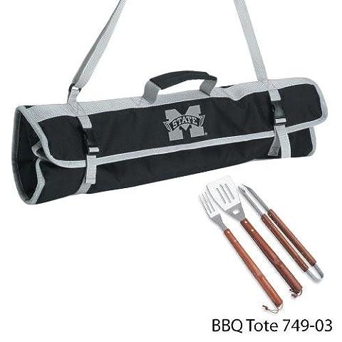NCAA Mississippi State Bulldogs de 3pièces Ustensiles de barbecue avec 2