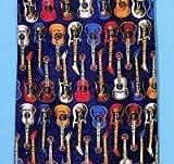 Tie Studio Cravate en soie Motif guitares