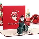 3D Pop Up Grußkarte Santa Claus Handmade Christmas Hochzeit Einladung Handwerk