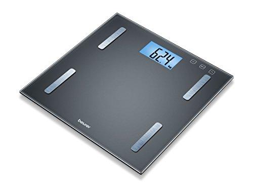 Beurer BF 180 Diagnosewaage, Körperfettwaage mit BMI-Berechnung und großer LCD-Anzeige, schwarz -