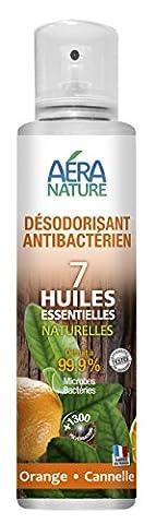 Désinfectant,désodorisant WC, 200ml, aux 7 huiles essentielles naturelles - Orange - Cannelle