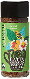 Clipper Latin American Decaf Organic Instant Coffee 100 g (Pack of 6)