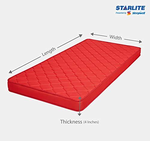 Sleepwell Starlite Discover Firm Foam Mattress (72*35*4) Image 6