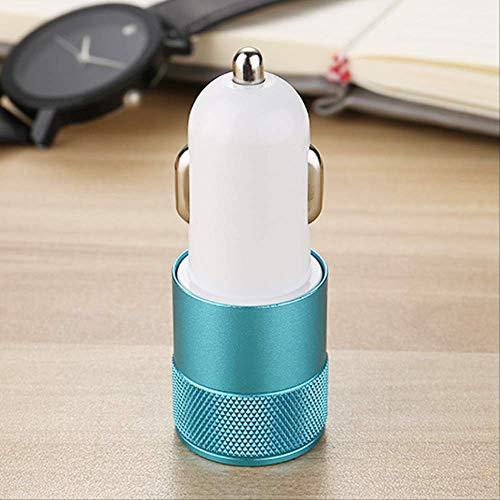 Caricabatteria da auto caricabatterie per auto Dual USB accendisigari dispositivo 12/24V caricabatterie per cellulare personalizzato all'ingrosso azzurro