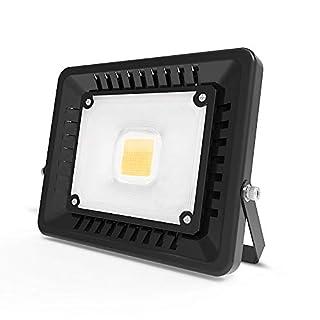 Anten 50W Ultraslim LED Fluter mit 4500Lumen in Warmweiß (3000K),Schwarz LED Strahler,IP65 wasserdicht led Außenleuchten Flutlicht Scheinwerfer