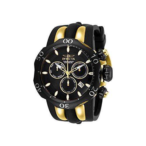 Invicta Venom Herren-Armbanduhr Armband Silikon Gelb Schweizer Quarz 26661 (Venom Männer Für Invicta Uhren)