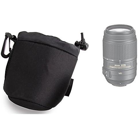 DURAGADGET Bolsa / Funda Para Lente Nikon AF-S DX VR 55-200mm F4-5.6 GII - Con Cierre Seguro Y Gancho Para Cinturón - Hecho En Neopreno De Alta Calidad