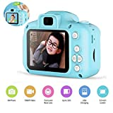 Womdee Kids Digital Video Rear Camera and Mini Child Camcorder Screen and Shockproof Anti-Fall for Age 3-14, with Front, 2 Inches, Blue