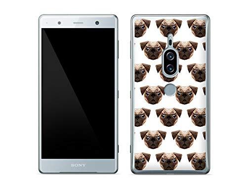 etuo Sony Xperia XZ2 Premium - Hülle Fantastic Case - Möpse - Handyhülle Schutzhülle Etui Case Cover Tasche für Handy
