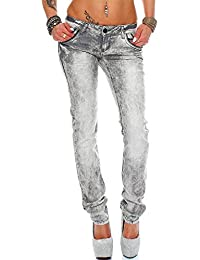 Cipo & Baxx Sexy Damen Jeans Hose Hüftjeans Regular Fit Stretch Röhre Dicke Naht Vintage