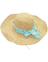 Funytine Lafayette de Verano con sombrillas de Crochet Finas Sombreros para  el Sol Playa de Playa Sombrero de Paja… f9abf790d35