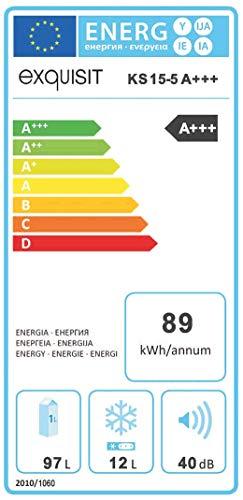 Exquisit KS 15-5 A+++ Kühlschrank, weiß