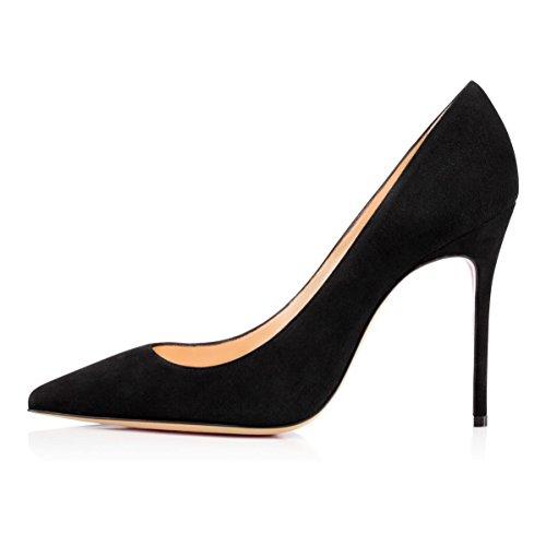 EDEFS - Scarpe da Donna - Estate Scarpe Donna con Tacco Eleganti - 10CM Blacksuede