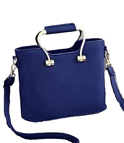 Frauenbeutelhandtaschen-Schulterbeutel Kurierbeutelfreizeitart Und Weiseatmosphäre Einfaches Wildes Elegantes Blue