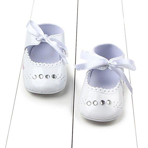 Jamicy® Kleinkind Mädchen Krippe niedliche Casual Sneaker Baby Kleinkind Schuhe Weiß