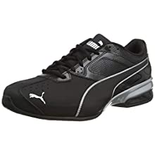PUMA Men's TAZON 6 FM Running shoes, Black Silver, 6.5 UK