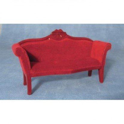 Mahogany Red Sofa