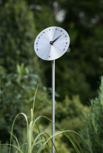 Unbekannt Odin Disc Classic Garten-Thermometer Edelstahl 15 cm -