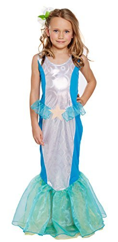Kostüm Little Mermaid - Girls Kids Little Mermaid World Book Day Fancy Dress Costume All Ages VEX U00245/246/247 (7-9 years) by Fancy Pants Party Store