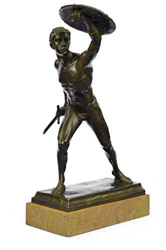 Handgemachte Bronze Skulptur Bronze Statue römischer Gladiator -Ukxn-0819- Decor Sammler Geschenk (Statue Gladiator)
