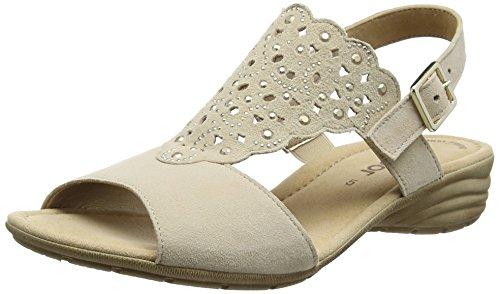 Gabor Damen Fashion Offene Sandalen mit Keilabsatz Beige (sesamo 13)