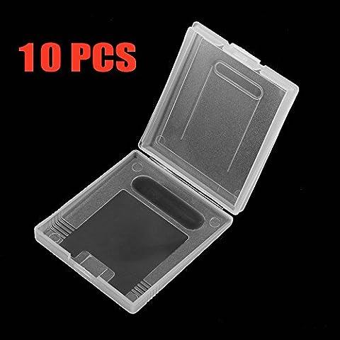 vaina de cartucho de juego para Game Boy protectora transparente de color GBC paquete 10pcs