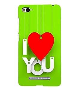 PrintVisa Wind Chime Heart 3D Hard Polycarbonate Designer Back Case Cover for Xiaomi Mi 4i :: Xiaomi Redmi Mi 4i