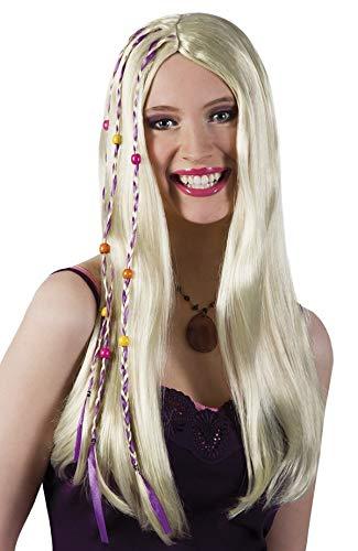 (TH-MP Hippie Perücke Damen Flower Power Hippie Outfit Zubehör 60er 70er Jahre Frisur)