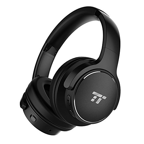 TaoTronics Active Noise Cancelling Kopfhörer 30 Stunden Bluetooth Kopfhörer, Kabelloses ohrumschließendes Headset, dualen 40 mm Treibern Kabellos Kopfhörer mit Tiefem Bass und Mikrofon (Tao Bluetooth)