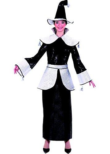 –cu060247/38–Kostüm Zauberin–Kristine–Größe 38/Kleid–Kragen/Gürtel/Frisiere (Kostüm Halloween Sorciere Femme)