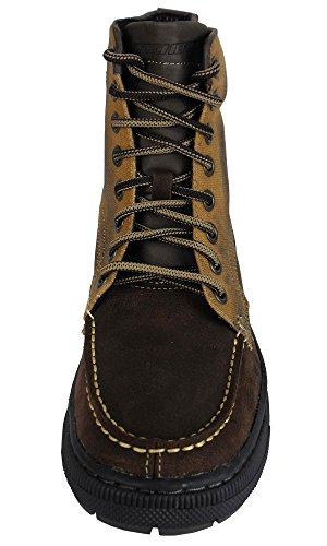 Skechers, Stivali uomo Marrone (Brown / Beige)