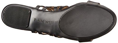 Nine West Jumprope Robe en cuir Sandale Black