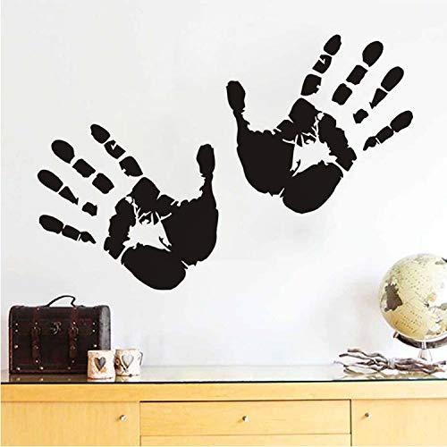 (Smntt Zwei Hände Wandaufkleber Handprints Theme Wallpaper Für Kinderzimmer Halloween Lustige Auto Fenster Aufkleber DIY Home Decor)