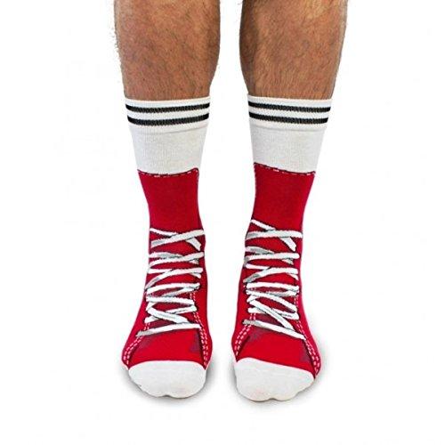 Turnschuhe Socken für Männer in rot im Paar - Strumpf