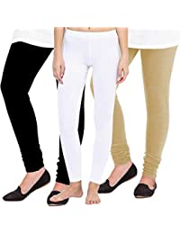 e620eb662ab77 Pixie Women's Woolen Leggings (Black, White and Beige, Free Size)-Combo