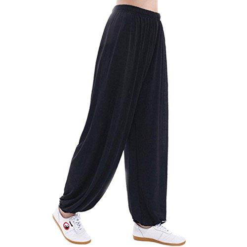 MESHIKAIER Super weiche Herren Haremshose Freizeithose Pluderhose Pumphose Yoga Hose Sport Hose für 4 Jahreszeiten
